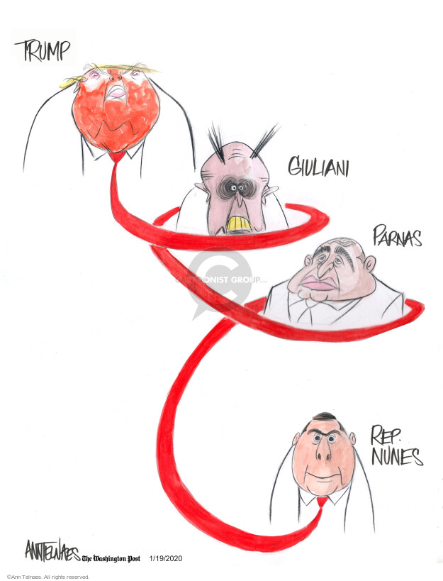 Cartoonist Ann Telnaes  Ann Telnaes' Editorial Cartoons 2020-01-19 Donald Trump Republicans