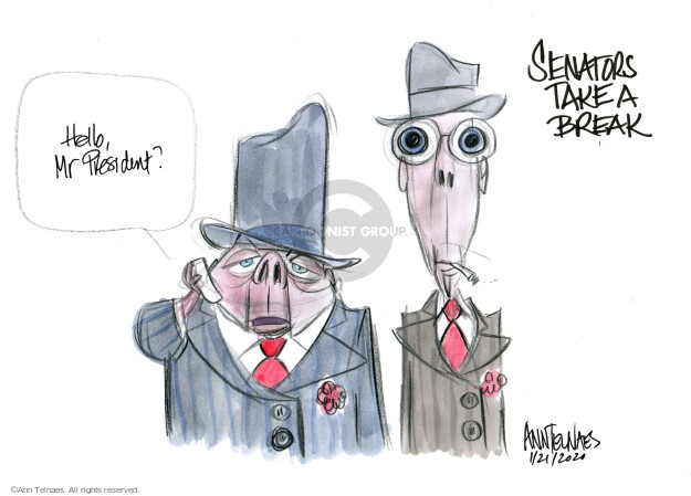 Cartoonist Ann Telnaes  Ann Telnaes' Editorial Cartoons 2020-01-22 Donald Trump Republicans