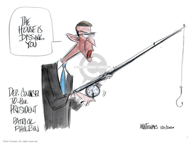 Cartoonist Ann Telnaes  Ann Telnaes' Editorial Cartoons 2020-01-22 scandal