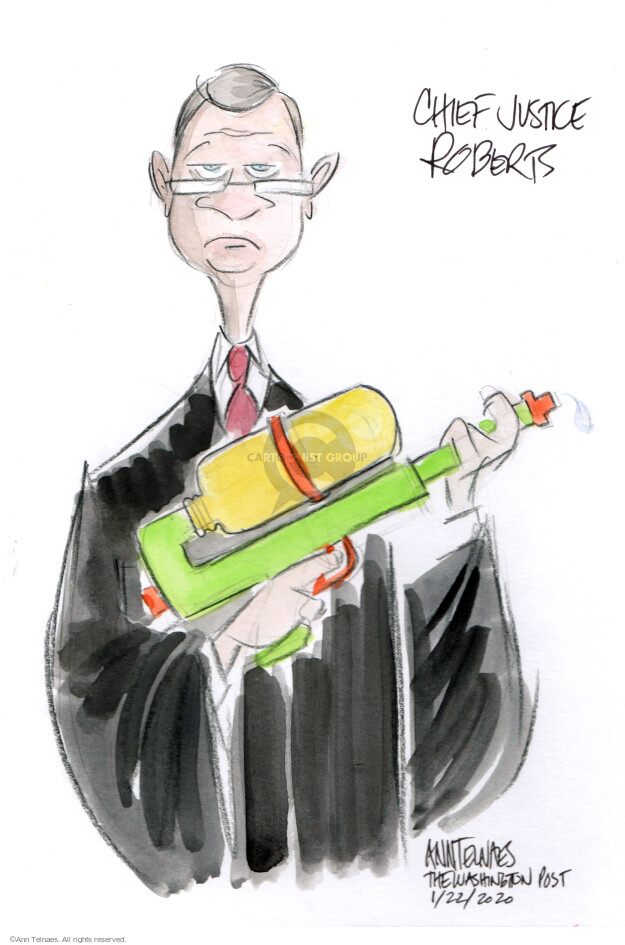 Cartoonist Ann Telnaes  Ann Telnaes' Editorial Cartoons 2020-01-22 power