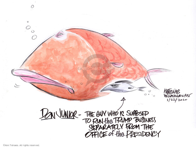 Ann Telnaes  Ann Telnaes' Editorial Cartoons 2020-01-22 profit
