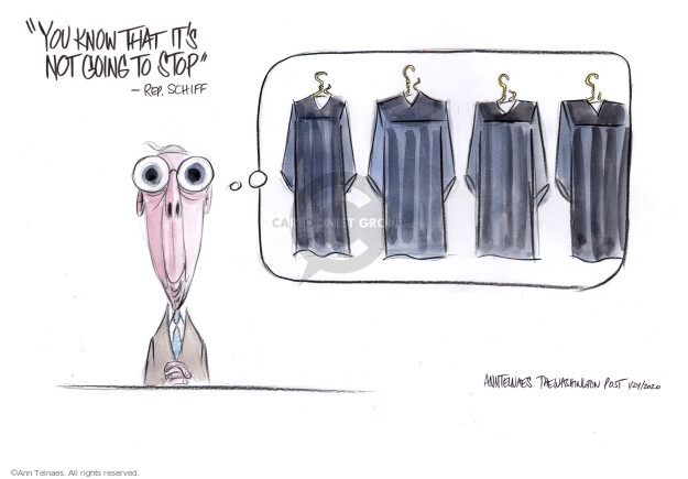 Cartoonist Ann Telnaes  Ann Telnaes' Editorial Cartoons 2020-01-24 impeach
