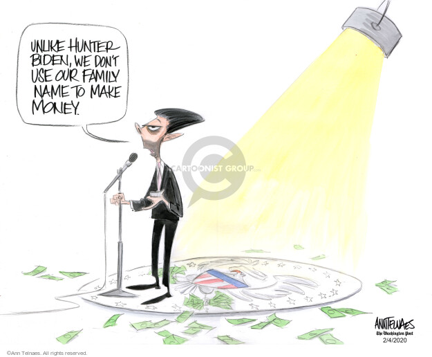 Ann Telnaes  Ann Telnaes' Editorial Cartoons 2020-02-04 Joe