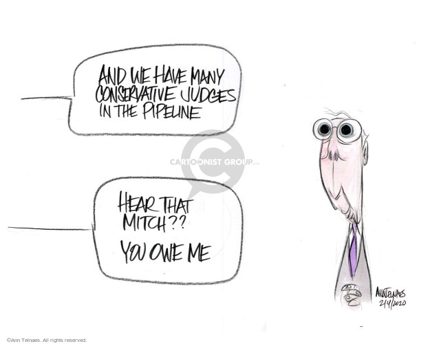 Ann Telnaes  Ann Telnaes' Editorial Cartoons 2020-02-05 congressional leadership