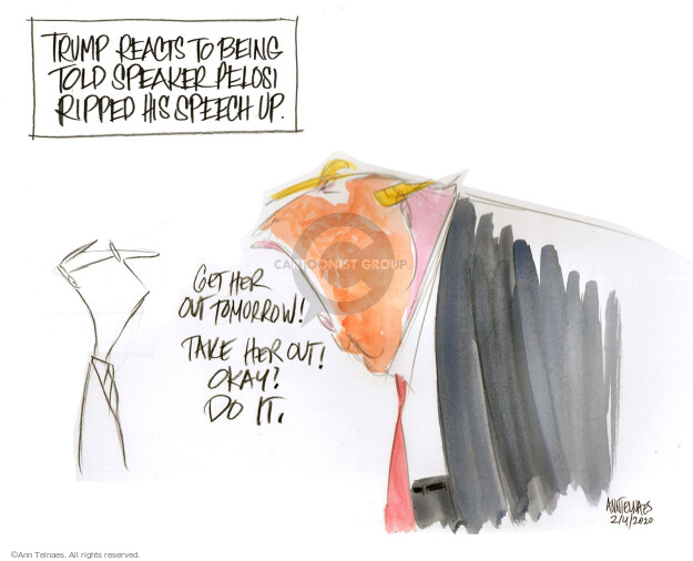 Ann Telnaes  Ann Telnaes' Editorial Cartoons 2020-02-05 speech