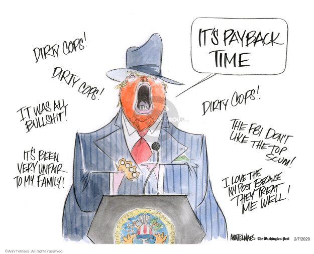 Ann Telnaes  Ann Telnaes' Editorial Cartoons 2020-02-07 abuse