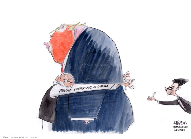 Ann Telnaes  Ann Telnaes' Editorial Cartoons 2020-02-25 international conflict