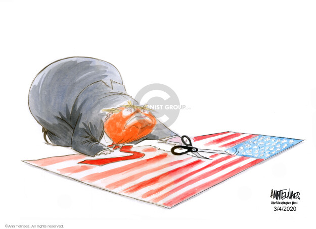 Cartoonist Ann Telnaes  Ann Telnaes' Editorial Cartoons 2020-03-04 American president