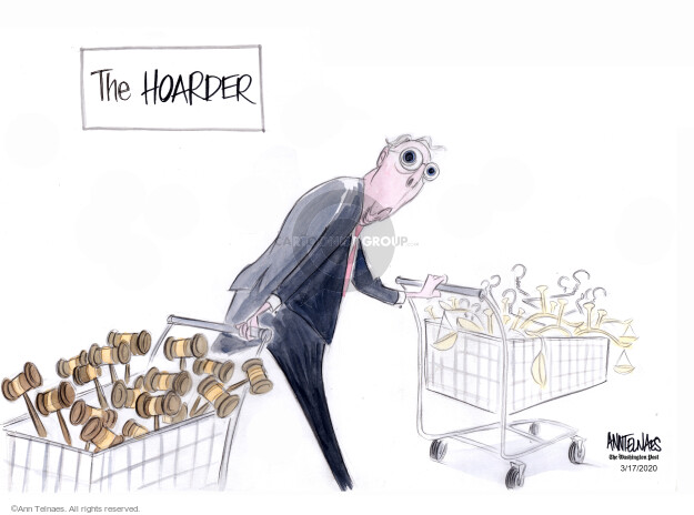 Ann Telnaes  Ann Telnaes' Editorial Cartoons 2020-03-17 court