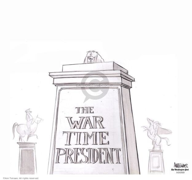 Ann Telnaes  Ann Telnaes' Editorial Cartoons 2020-03-23 war