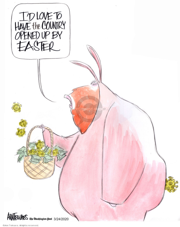 Ann Telnaes  Ann Telnaes' Editorial Cartoons 2020-03-24 economy