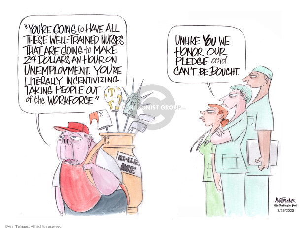 Ann Telnaes  Ann Telnaes' Editorial Cartoons 2020-03-26 health care