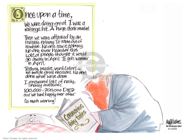 Ann Telnaes  Ann Telnaes' Editorial Cartoons 2020-04-01 politics