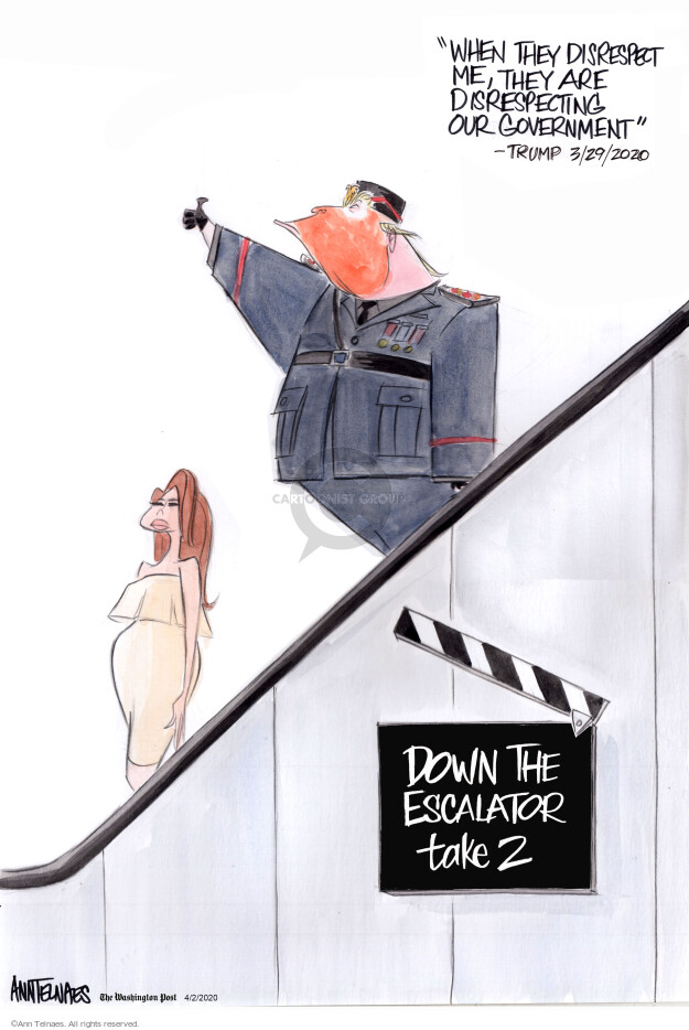 Ann Telnaes  Ann Telnaes' Editorial Cartoons 2020-04-02 president