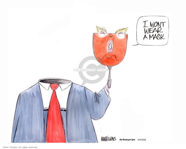 Ann Telnaes  Ann Telnaes' Editorial Cartoons 2020-04-03 face