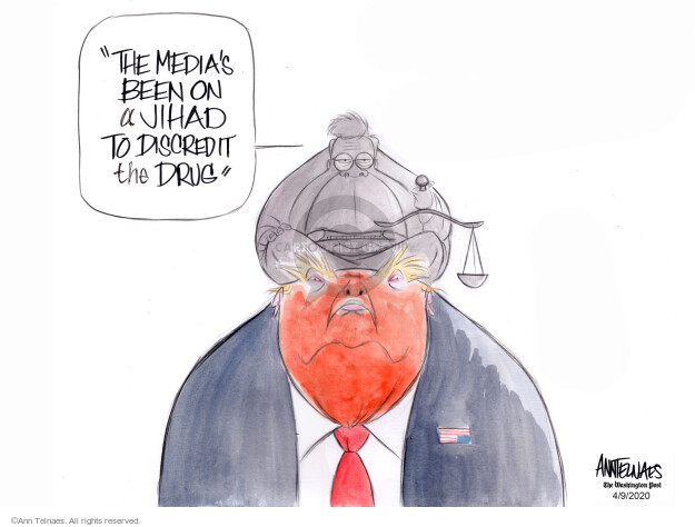 Ann Telnaes  Ann Telnaes' Editorial Cartoons 2020-04-09 media