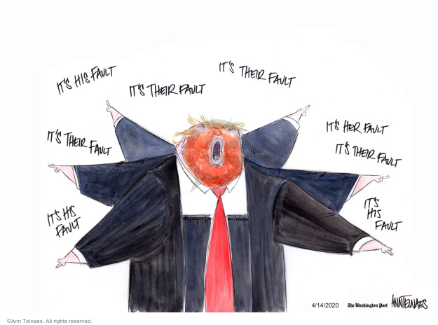 Ann Telnaes  Ann Telnaes' Editorial Cartoons 2020-04-14 blame