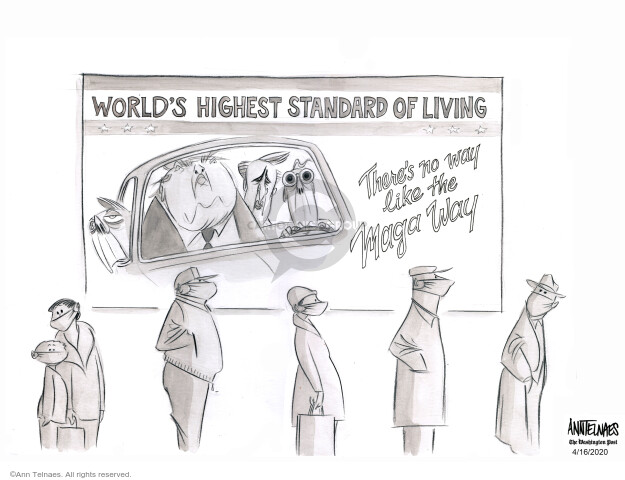 Cartoonist Ann Telnaes  Ann Telnaes' Editorial Cartoons 2020-04-16 pandemic