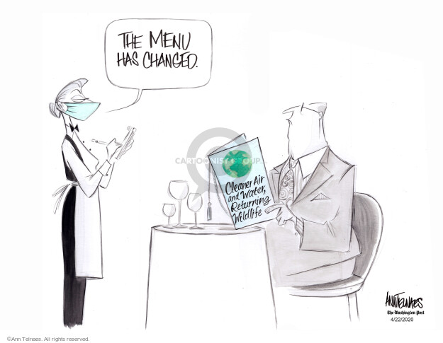 Cartoonist Ann Telnaes  Ann Telnaes' Editorial Cartoons 2020-04-22 pandemic