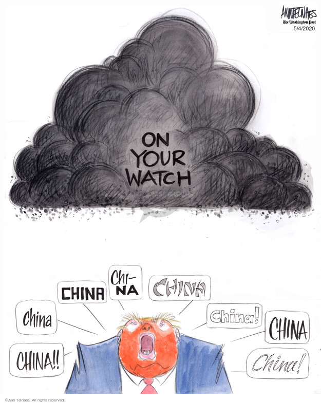 Cartoonist Ann Telnaes  Ann Telnaes' Editorial Cartoons 2020-05-04 pandemic