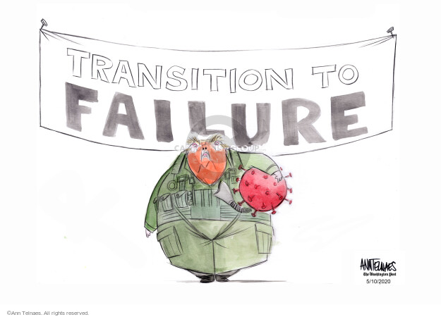 Ann Telnaes  Ann Telnaes' Editorial Cartoons 2020-05-08 transition
