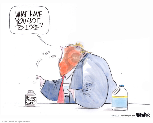Cartoonist Ann Telnaes  Ann Telnaes' Editorial Cartoons 2020-05-18 pandemic