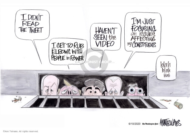 Ann Telnaes  Ann Telnaes' Editorial Cartoons 2020-06-10 senate majority leader