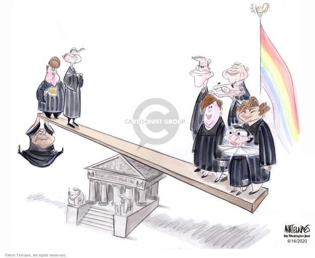 Ann Telnaes  Ann Telnaes' Editorial Cartoons 2020-06-16 discrimination