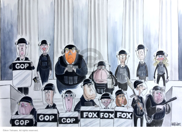 Cartoonist Ann Telnaes  Ann Telnaes' Editorial Cartoons 2020-06-19 Donald Trump Republicans