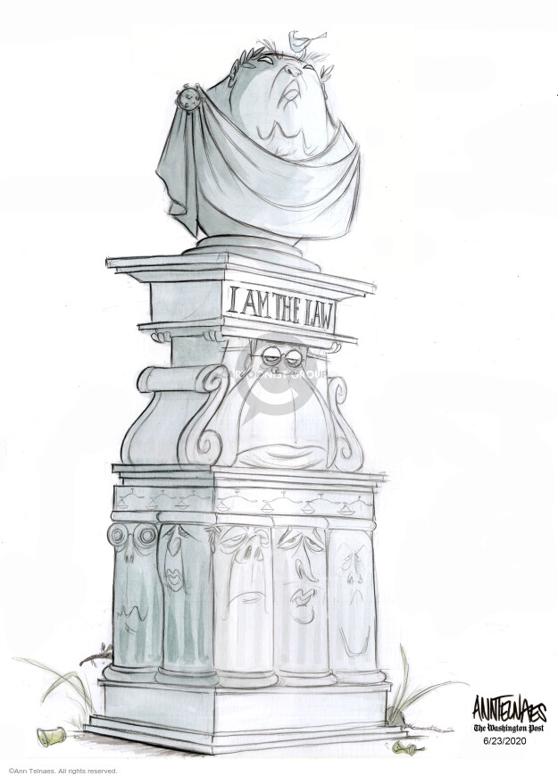 Ann Telnaes  Ann Telnaes' Editorial Cartoons 2020-06-23 presidential administration