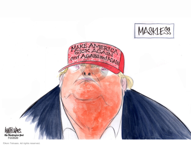 Ann Telnaes  Ann Telnaes' Editorial Cartoons 2020-07-02 presidential