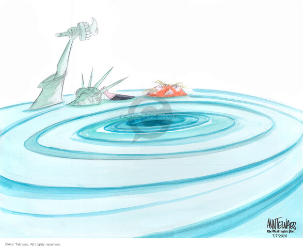 Ann Telnaes  Ann Telnaes' Editorial Cartoons 2020-07-07 democracy