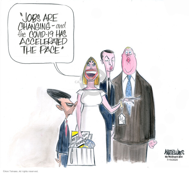 Ann Telnaes  Ann Telnaes' Editorial Cartoons 2020-07-15 unemployment