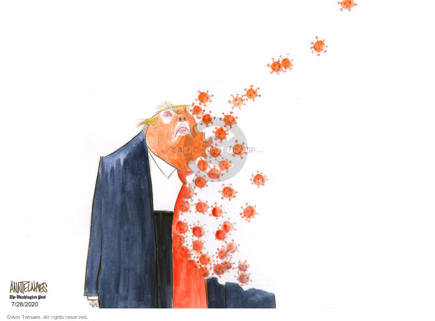 Ann Telnaes  Ann Telnaes' Editorial Cartoons 2020-07-28 pandemic
