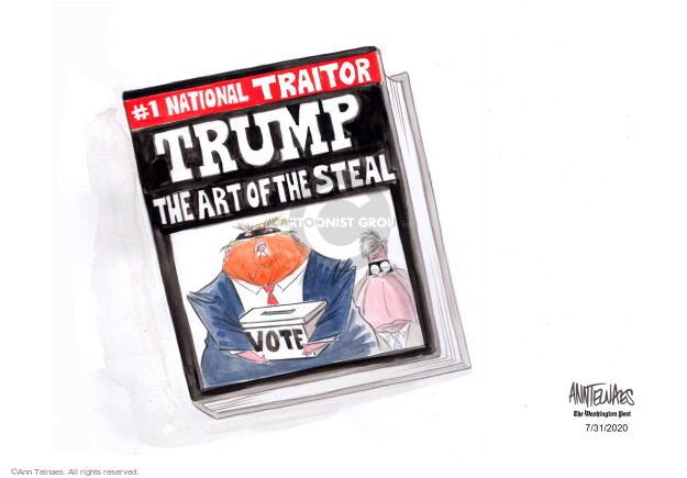 Ann Telnaes  Ann Telnaes' Editorial Cartoons 2020-07-31 democracy