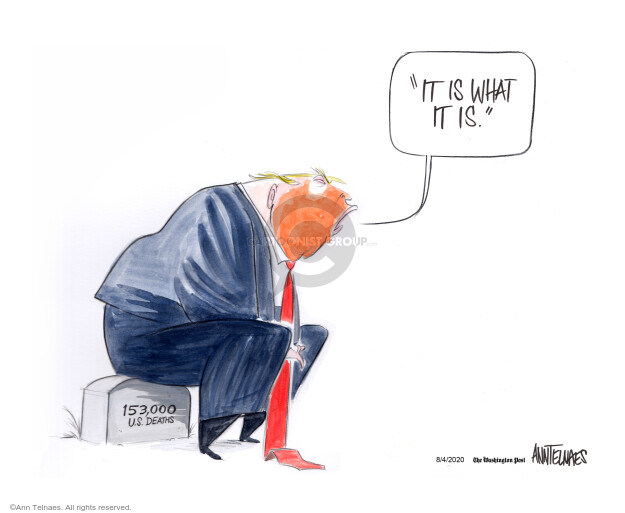Ann Telnaes  Ann Telnaes' Editorial Cartoons 2020-08-04 death