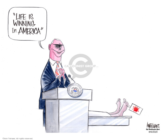 Ann Telnaes  Ann Telnaes' Editorial Cartoons 2020-08-06 disease