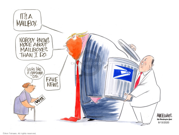 Ann Telnaes  Ann Telnaes' Editorial Cartoons 2020-08-13 news