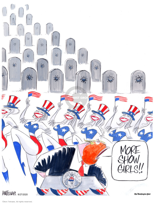 Ann Telnaes  Ann Telnaes' Editorial Cartoons 2020-08-27 death