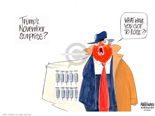 Ann Telnaes  Ann Telnaes' Editorial Cartoons 2020-09-03 disease