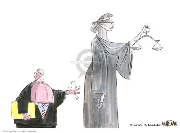 Ann Telnaes  Ann Telnaes' Editorial Cartoons 2020-09-10 Justice Department