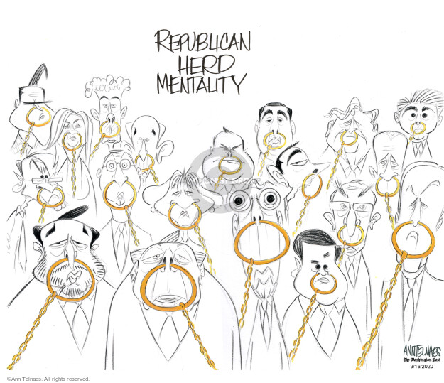 Ann Telnaes  Ann Telnaes' Editorial Cartoons 2020-09-16 senate majority leader