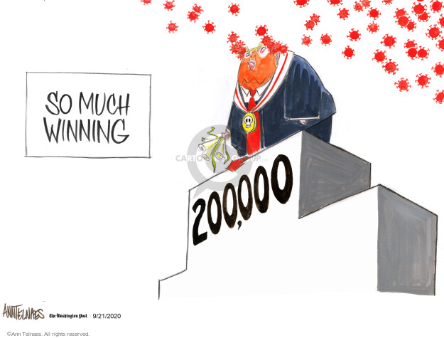Ann Telnaes  Ann Telnaes' Editorial Cartoons 2020-09-21 disease