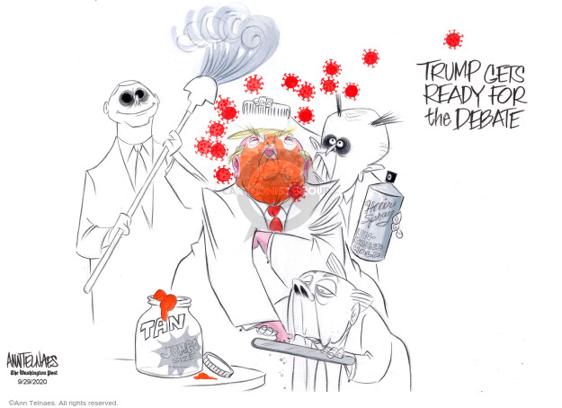 Ann Telnaes  Ann Telnaes' Editorial Cartoons 2020-09-29 2020 election debate