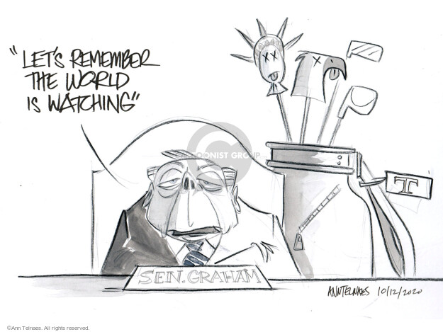 Ann Telnaes  Ann Telnaes' Editorial Cartoons 2020-10-12 senator