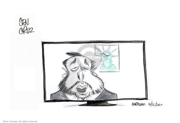 Ann Telnaes  Ann Telnaes' Editorial Cartoons 2020-10-12 lady