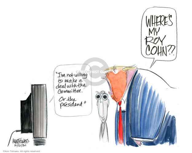 Ann Telnaes  Ann Telnaes' Editorial Cartoons 2020-10-13 Supreme Court appointment