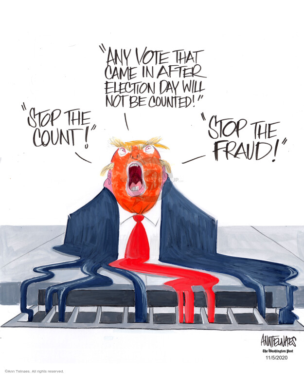 Ann Telnaes  Ann Telnaes' Editorial Cartoons 2020-11-05 candidate