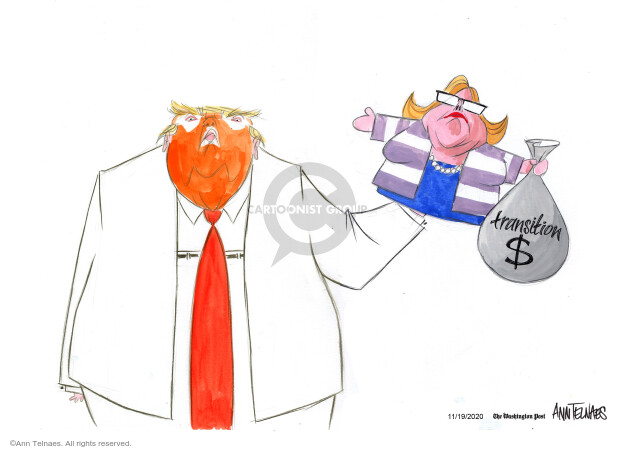 Ann Telnaes  Ann Telnaes' Editorial Cartoons 2020-11-19 Donald Trump Joe Biden