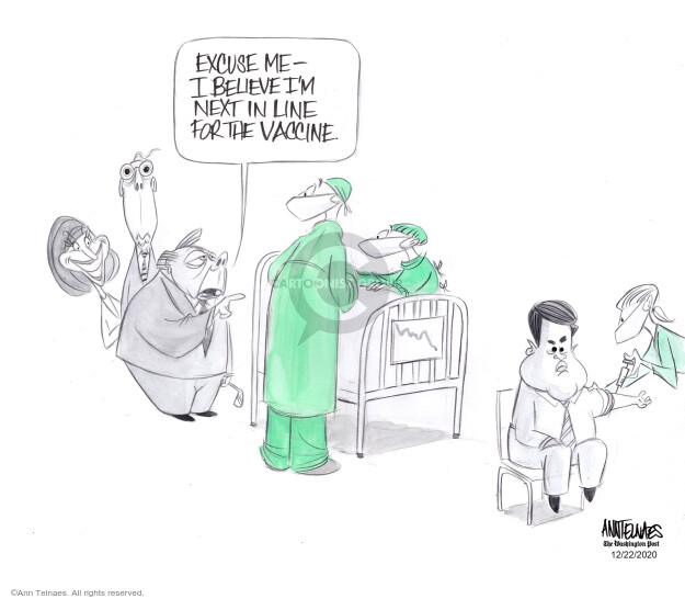 Ann Telnaes  Ann Telnaes' Editorial Cartoons 2020-12-22 disease